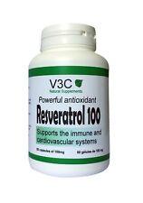 RESVERATROL - PUISSANT ANTIOXYDANT - V3C NUTRITION USA 60 GELULES