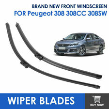 Pair of Car Front Window Windscreen Wiper Blades Fit Peugeot 308 308CC 308SW