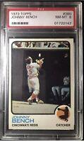 1973 Topps Johnny Bench #380 NM-MT PSA 8 HOF The Big Red Machine Cincinnati Reds