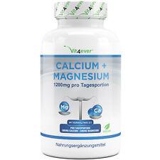 CALCIUM & MAGNESIUM = 365 Tabletten  Vegan Hochdosiert 1200 mg Portion Kalzium