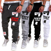 Men's Track Pants Cuff Trousers Slacks Sports Gym Sweatpants Baggy Tracksuits