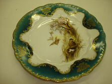 Vintage 1 pcs Austria L.S. & S. Porcelain Plate Art Of Birds In A Nest Beautiful