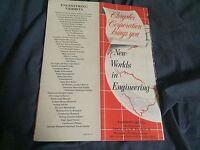 1951 1952 Chrysler Dodge Plymouth Desoto Features Catalog Brochure Prospekt