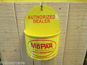 MOPAR Authorized Dealer Wall Tray Rack Sign Plymouth Dodge Chrysler Viper Cuda