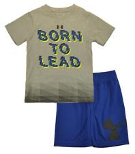 Under Armour Boys S/S Gray Born To Lead Top 2pc Short Set Size 5
