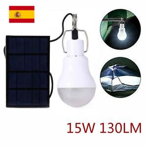 5V 15W 130LM Potencia Solar Bombilla de Luz LED Lámpara de Energía