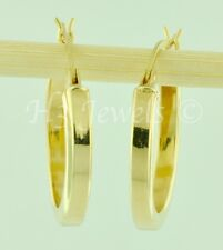 earring 1.90 gram 7/8 inch #4884 h3jewel 14k solid yellow gold plain hollow hoop