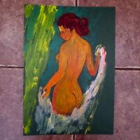 NUDE RUSSIAN WOMAN- Original Oil Painting- LISTED RUSSIA Armenian artist CHAHIN