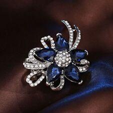 Brooch Pins Flower Brooch Jewelry For Wedding Crystal Lady Fashion Rhinestone
