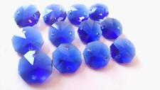 50 Dark Cobalt Blue Chandelier Crystal Beads Octagon Prisms Suncatcher Octagons