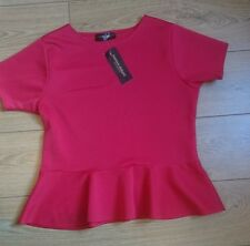 New sexy plus size red peplum top size 20 rrp £24.99