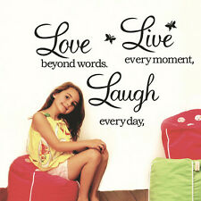 Live Laugh Love Wall Sticker - Home Kitchen Family Wall Art Quote Decal 2016