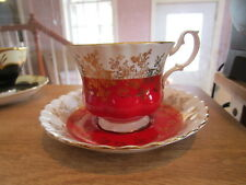 Royal Albert Regal Series Cup & Saucer - Red w/Gold Accents