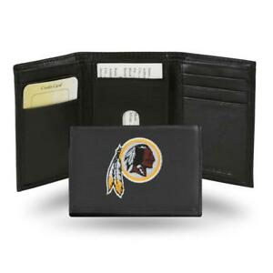 Washington Redskins Embroidered Leather Tri-Fold Wallet [NEW] Billfold ID Card