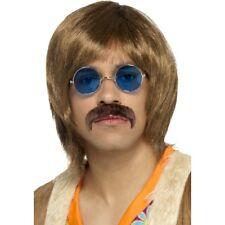 1960s Hippie Kit Mens Hippy Singer Fancy Dress Accessories Wig Tash Specs