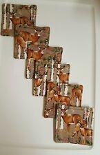 Coasters Set Of 6 Deer
