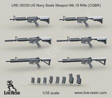 Live Resin 35039 1/35 US Navy Seals Weapon Mk.18 Rifle (CQBR)