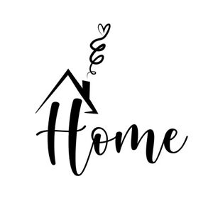 Home Fireplace- Vinyl Quote Wall Living Room Art Decal Stickers Decor Letters