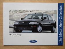 FORD Range orig 1992 UK Mkt brochure Escort RS 2000 XR3i Cosworth Fiesta RS1800