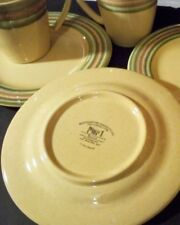 "PIER 1  EARTHENWARE ""TRIANA'' 3 MUGS AND 3 PLATES"
