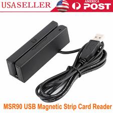 Msr90 Magnetic Stripe Card Reader Credit Magstrip 3 Tracks New