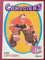 Ken Dryden RC 1971-72 O-Pee-Chee #45 Rookie NHL Creases