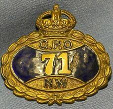 SUPERB ORIGINAL GPO POST OFFICE UNIFORM BADGE - NO 71 NW POSTMAN BADGE -
