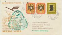 """BUNDESREPUBLIK 1956 Erstflug Deutsche Lufthansa """"FRANKFURT/M. – BUENOS AIRES"""""""