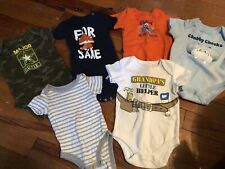 Baby Boys 0-3 Month Bodysuit Lot