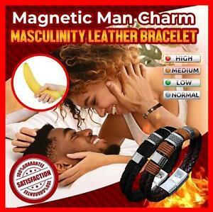Masculinity™ Magnetic Man Charm Masculinity Leather Bracelet