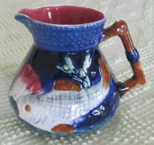 "Shorter and Sons Majolica Staffordshire England 4.5"" Fish Pitcher"