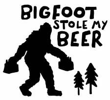 Bigfoot Stole My Beer Sasquatch Mythology | Die Cut Vinyl Sticker Decal Laptop