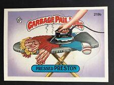 Garbage Pail Kids GPK Original Series 6 #219b Pressed Preston NrMt-Mint