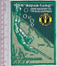 SCUBA Diving USA US Divers Aqua-Lung 1956 Catalog Cover Los Angeles, CA green