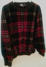 Vintage '92 POLO Ralph Lauren Fleece Men Womens Plaid Red/Black/White Never worn