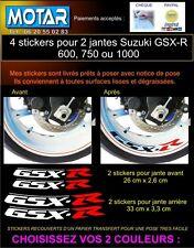 4 STICKERS LISERETS JANTES GSXR GSX-R 600 750 1000 MOTO AUTOCOLLANT DECAL