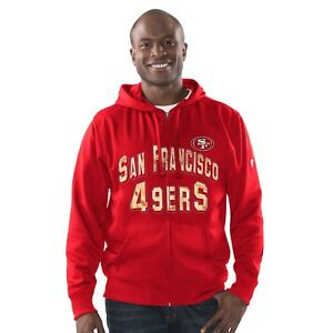 San Francisco 49ers G-lll Sports GRIDIRON Full Zip Fleece Hoodie NFL Jacket