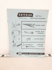 Kupfrian Manufacturing 1956 Catalog Asbestos Packing Technical Products #F679