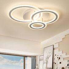 Modern 3 Rings Ceiling Lamp Led Chandeliers Bedroom Living Room Lighting Decor