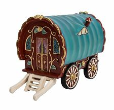 Vivid Arts Miniature World Fairy Pixie Forest Garden House Red Gypsy Caravan