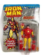 Vintage Marvel Super Heroes Iron Man Quick Change Armor 1991 Toy Biz