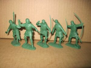 English bowmen Warhansa ~ 60 mm   soft resin for Agincourt and Robin Hood