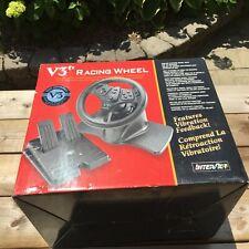 InterAct V3 Racing Wheel Nintendo 64 PlayStation Driving Steering Pedals N64 Ps1