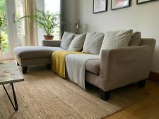 Dwell Corner Sofa Grey Black Legs Decent Condition
