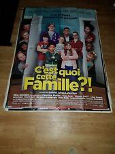 Affiche de cinéma d'époque du film: C'EST QUOI CETTE FAMILLE de 2016 (120x160cm)