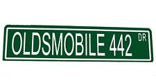 "Custom Metal Street Sign Oldsmobile 442 St 6""x24"" Car Garage Man Cave 42096"