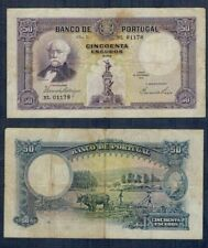 PORTUGAL RARO BILLETE de 50 ESCUDOS. 18 Noviembre 1932. Serie NL 01178.