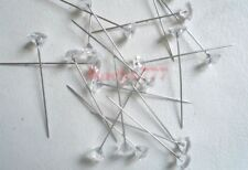 Epingle tête diamant 9mm rose bouquet de mariée  décoration mariage lot 20pcs