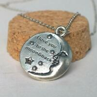 Jewelry Fashion Letter Pendant Necklace Silver Plated