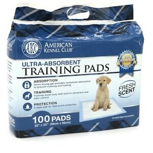 """Pet Training and Puppy Pads, American Kennel Club Fresh Scented 22""""x22"""" 100 Pack"""
